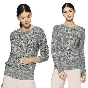 Gap for good cable knit fisherman sweater gray XS